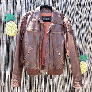 Vintage Wilson's Aviator leather jacket